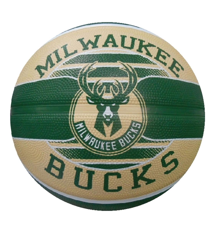 Spalding Ss21 Spalding Nba Milwaukee Bucks Team Sz7 Rubber Basketball
