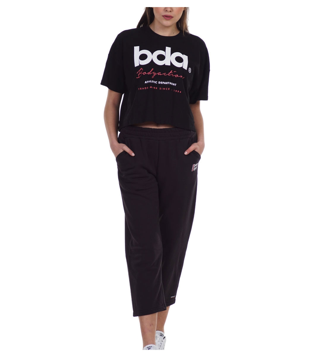 Body Action Ss21 Women'S Wide Leg Cropped Joggers