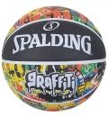 Spalding Μπάλα Basket Ss21 Spalding Rainbow Graffiti Sz7 Rubber Basketba 84-372Z1