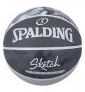 Spalding Μπάλα Basket Ss21 Spalding Sketch Jump Sz7 Rubber Basketball 84-382Z1