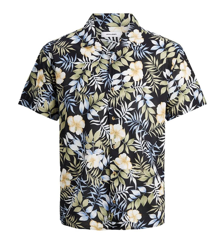 Jack & Jones Ss21 Jjgreg Aop Shirt Ss Plain