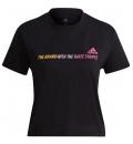 adidas Γυναικεία Κοντομάνικη Μπλούζα Ss21 Gradient Logo Cropped T-Shirt GM5576