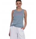 Body Action Γυναικεία Αμάνικη Μπλούζα Ss21 Women'S Knot Back Tank Top 041123