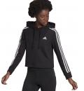 adidas Γυναικεία Μακριά Ζακέτα Με Κουκούλα Fw21 Essentials Crop Hoodie GM5582