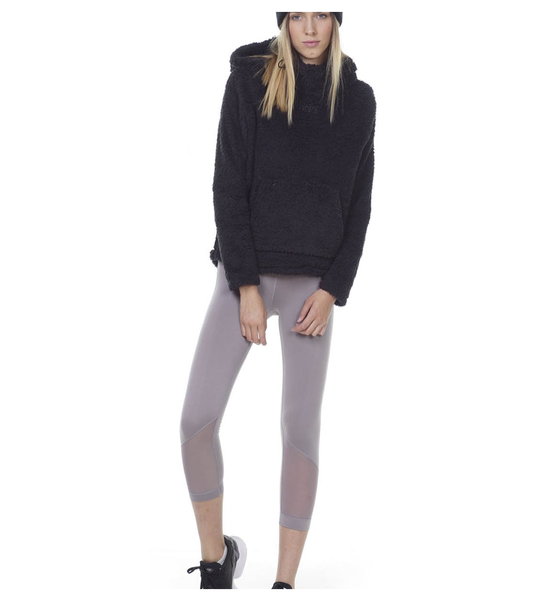 Body Action Γυναικεία Ζακέτα Σέρπα Fw20 Women Fluffy Teddy Cropped Hoodie 061007