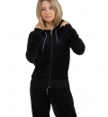 Body Action Fw20 Women Velour Hoodie Jacket
