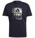 Adidas Ss21 Men Badge Of Sport Box Foil Graphic T-Shirt