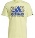 Adidas Ss21 Men Doodle Logo Graphic T-Shirt