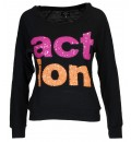 Body Action WOMEN OVERSIZED L/S TOP
