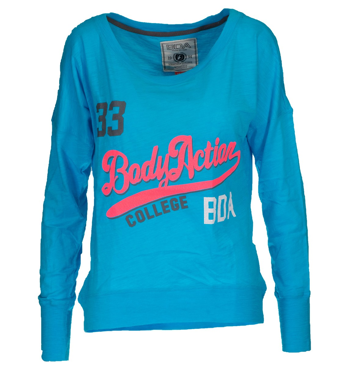 Body Action WOMEN LOOSE BAT STYLE TOP