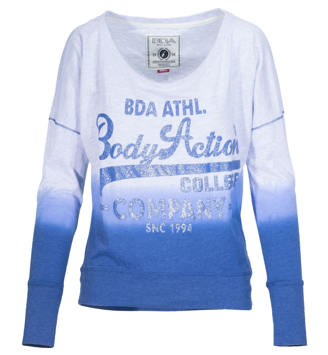 Body Action Women Dyp Dyed Bat Style Top
