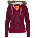 Body Action Γυναικεία Ζακέτα Με Κουκούλα Women Fleece Zip Hoodie 071727