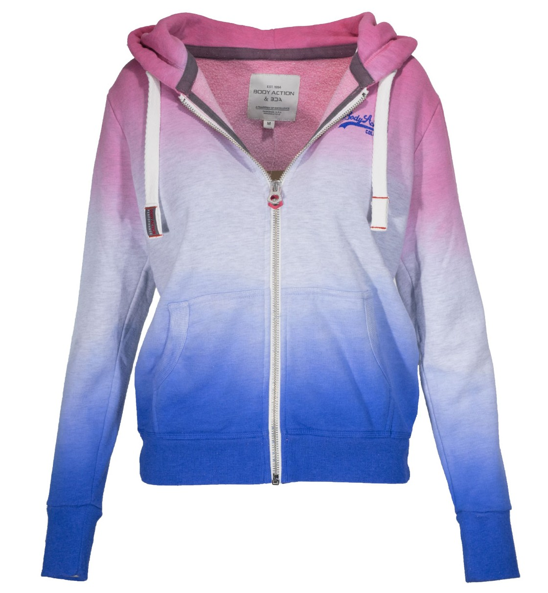 Body Action WOMEN DYP DYED ZIP HOODIE