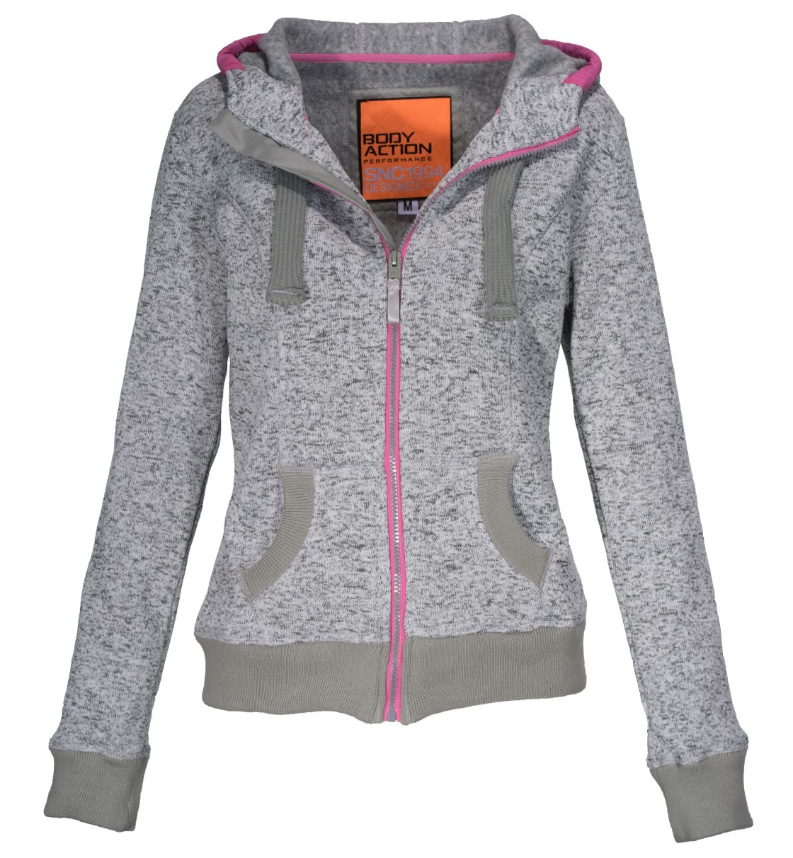 Body Action Women Thick Fleece Zip Hoodie