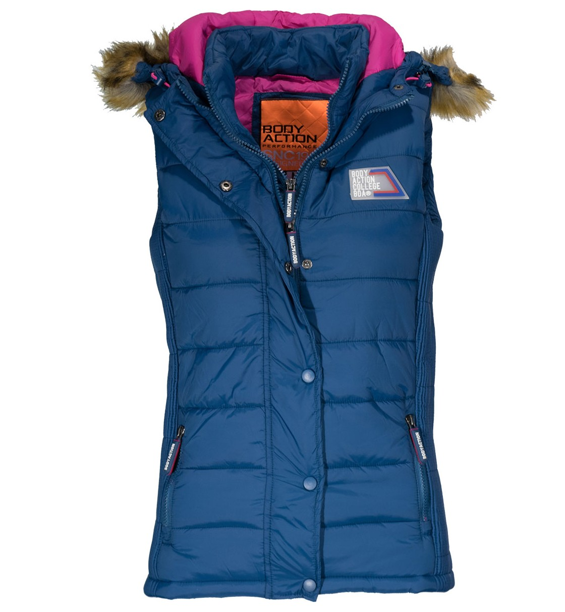 Body Action Women Slim Fit Quilted Vest