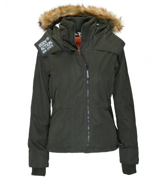 12aceca9559 Body Action Γυναικείο Αθλητικό Μπουφάν Women Fur Hooded Winter Jacket 071732