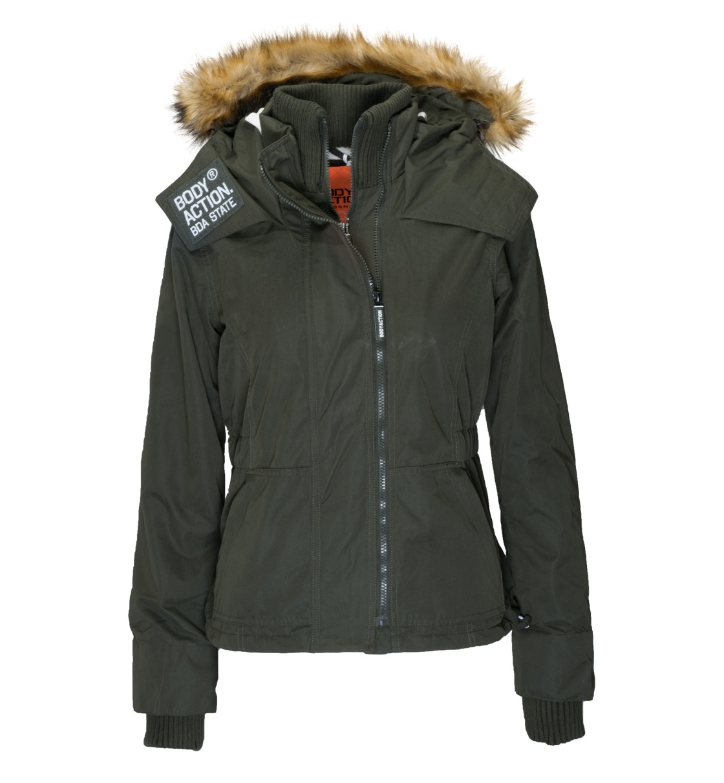 Body Action Γυναικείο Αθλητικό Μπουφάν Women Fur Hooded Winter Jacket 071732 6a0be5a2196