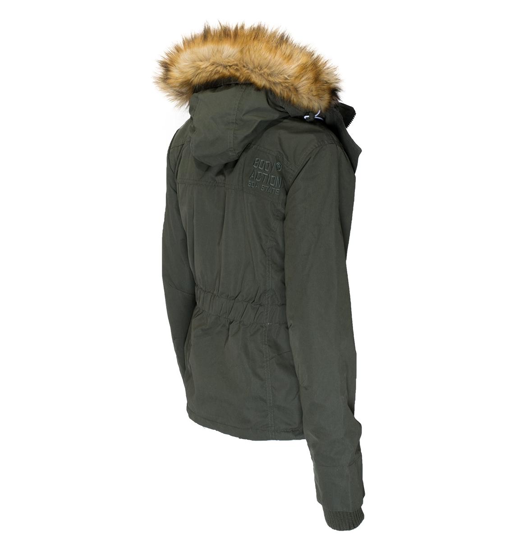 99303c52df3 Body Action Γυναικείο Αθλητικό Μπουφάν Women Fur Hooded Winter Jacket 071732