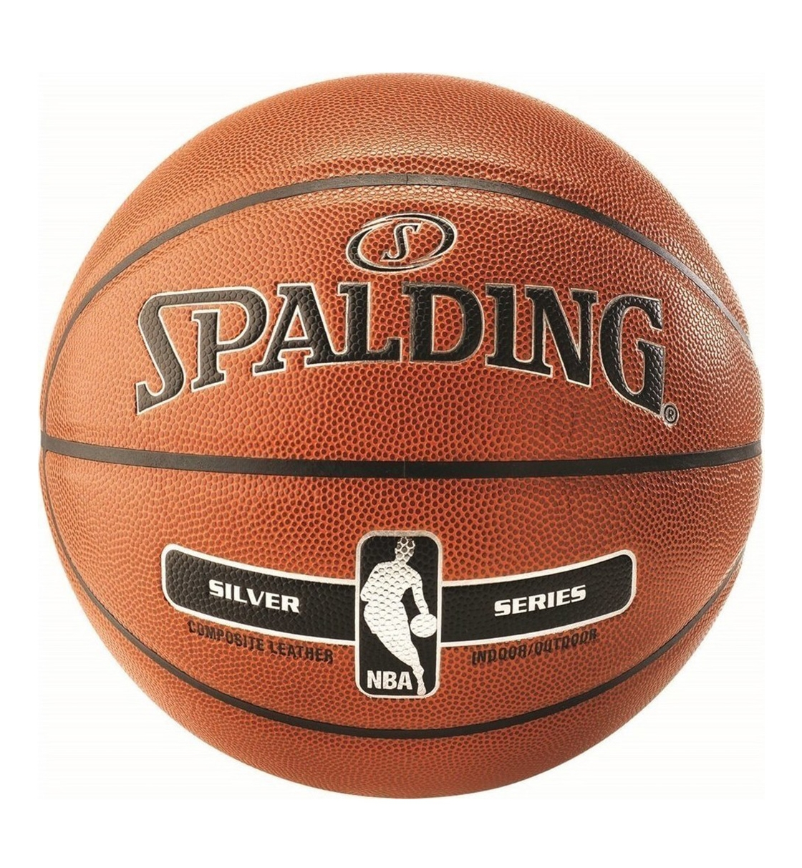 Spalding Μπάλα Basket Nba Silver I/O Size 7 Composite Basketball 76018Z1