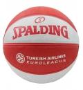 Spalding Μπάλα Basket Euroleague Team Size 7 Rubber Basketball 83032Z1