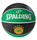 Spalding Μπάλα Basket Euroleague Team Size 7 Rubber Basketball 83079Z1