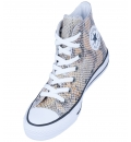 Converse Γυναικείο Παπούτσι Μόδας All Star Chuck Taylor Hi Snake Fashion Natural 557920C