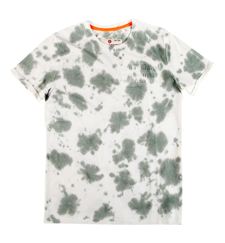 Body Action Ανδρική Κοντομάνικη Μπλούζα Men Slim Fit Tie-Dye T-Shirt 053728