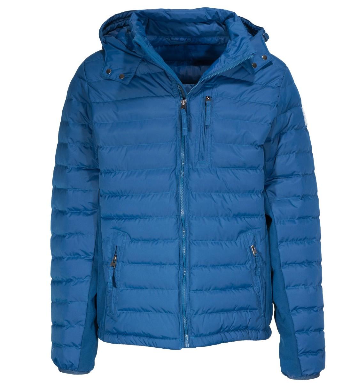 Body Action Men Slim Fit Zip Up Hooded Jacket
