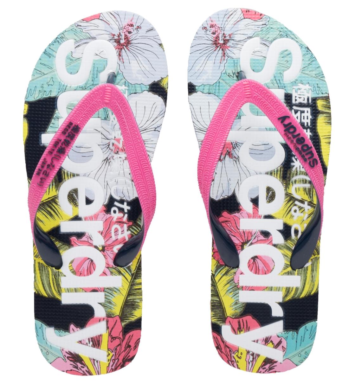 Superdry Γυναικεία Σαγιονάρα Παραλίας D4 Aop Flip Flop Παπουτσι Γυναικειο GF3003SQ