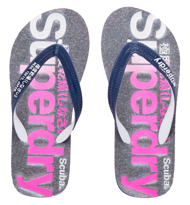 Superdry Γυναικεία Σαγιονάρα Παραλίας D1 Scuba Faded Logo Flip Flop GF3005SQ