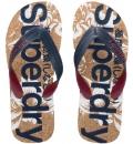 Superdry Ανδρική Σαγιονάρα Παραλίας D1 Printed Cork Flip Flop Παπουτσι Ανδρικο MF3005SQ