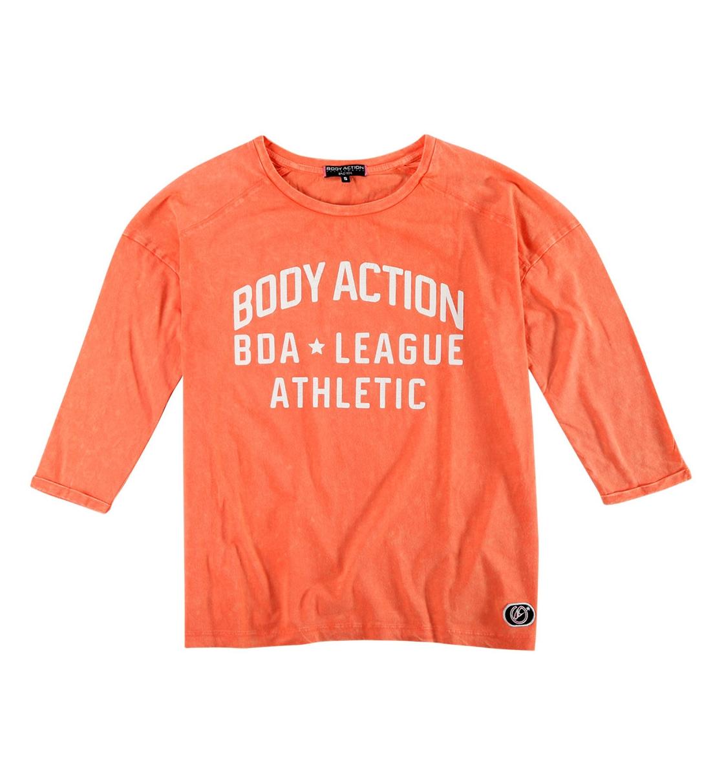 Body Action Γυναικεία Μπλούζα 3/4 Women Dye-Effect Slouch Top 061830