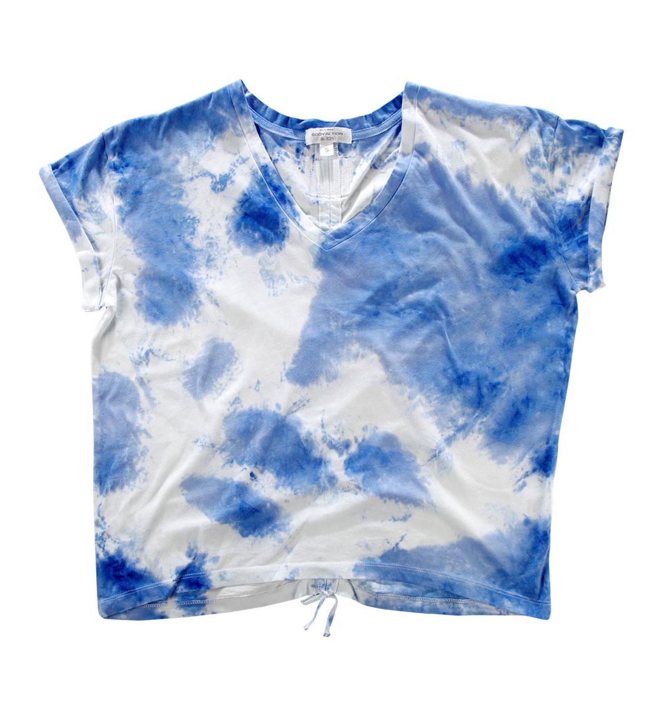 Body Action Γυναικεία Κοντομάνικη Μπλούζα Women Oversized Tie-Dye Top 051730