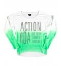 Body Action Γυναικεία Μακρυμάνικη Μπλούζα Women Dip-Dyed Bat Style Top 061721