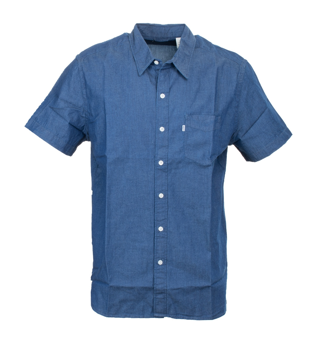 Levis Ανδρικό Πουκάμισο Ss18 S/S Sunset 1 Pkt Shirt Blue Shade Indi 65826-0137