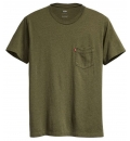Levis Ανδρική Κοντομάνικη Μπλούζα Ss18 Ss Setin Sunset Pocket Sea Moss Heather 29813-0044