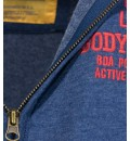 Body Action MEN MOCK NECK COLLAR HOODIE JACKET