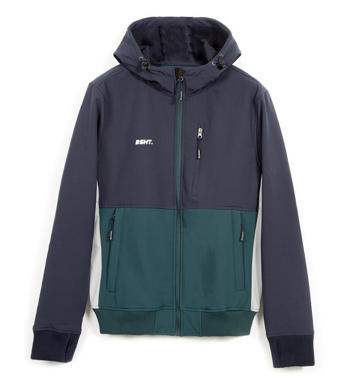 Basehit Ανδρικό Αθλητικό Μπουφάν Fw18 Men'S Soft Shell Ribbed Jacket With Hood BM11.68